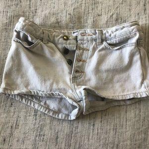 American apparel Jean shorts size 25